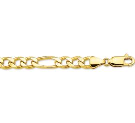 Stevige Gouden Figaro Schakelarmband | 4,9 mm 20 cm