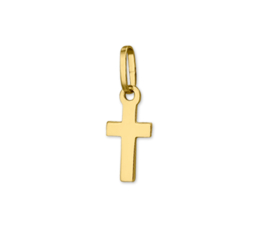 Basic Rechthoekige Kruis Hanger van Geelgoud