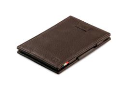 Chocolade bruine Nappa Magic Wallet Portemonnee van Cavare Garzini