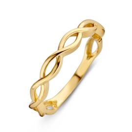 Excellent Jewelry Geelgouden Ring met Gevlochten Decoratie
