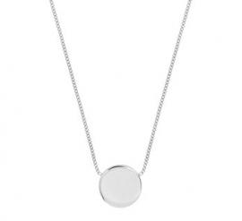 Zilveren Gourmet Collier met Zilveren Munt Hanger
