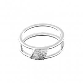 Ring van Zilver met Negen Zirkonia's van MY iMenso