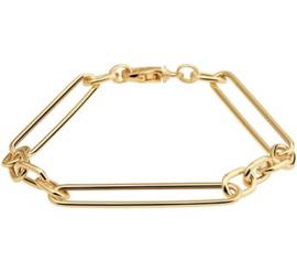 Gouden Anker Armband met Brede Schakels