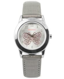 Zilverkleurig Butterfly Meisjes Horloge met Zilverkleurige Horlogeband