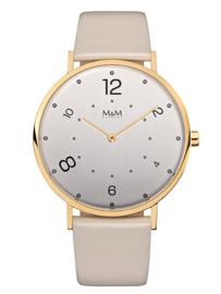 Goudkleurig Modern Basic Unisex Horloge met Beige Band van M&M