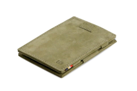 Olijfgroene Magic Wallet Portemonnee van Cavare Garzini