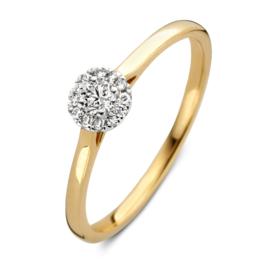Excellent Jewelry Bicolor Ring met 0,20 crt. Briljant