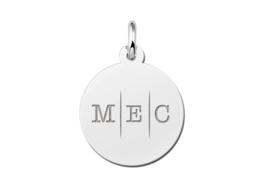 Zilveren Initialen Hanger met Drie Letters | Names4ever