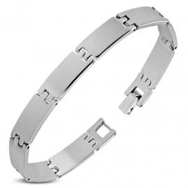 Edelstalen Graveer Armband Voor Mannen