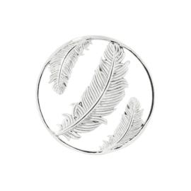 Zilveren Cover Munt met Veren van MY iMenso 33-1409