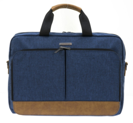 "Navy 17"" Laptop Tas van Davidts Mood & Moov"