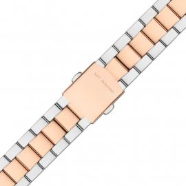 MY iMenso Quartz Gepolijste Horlogeband Zilverkleurig / Roségoudkleurig