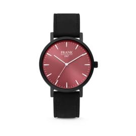 Zwart Horloge van Frank 1967 met Rode Wijzerplaat