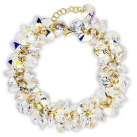 Spark FrouFrou Vergulde Armband met Schitterende Aurora Borealis Glaskristallen