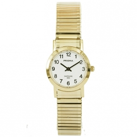 Prisma Horloge P.1817 Dames Rekband Edelstaal Saffierglas
