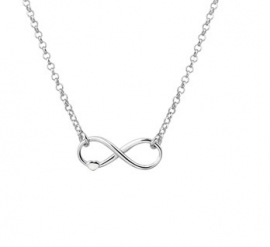 Infinity met Hart Hanger van Zilver en Anker Collier