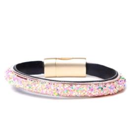 Roze Gespikkelde Fashion Armband van BIBA