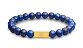 Essential Gold   Lapis Lazuli Kralen Armband van Blaauw Bloed