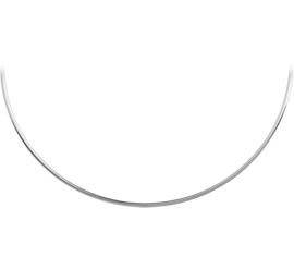Gepolijst Zilveren Spang Collier / Lengte 42cm