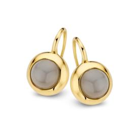 Excellent Jewelry Geelgouden Oorhangers met Maansteen