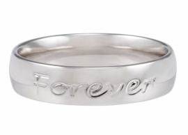 Speechless ring - Forever never ends - Witgoud