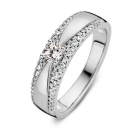 Excellent Jewelry Witgouden Ring met 0,40 crt. Briljant