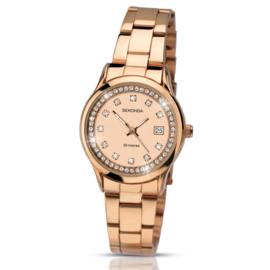 Elegant Roségoudkleurig Dames Horloge van Sekonda