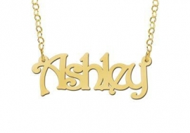 Names4ever Vergulde Ashley Naamketting