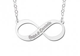 Names4ever Infinity Hanger van Zilver