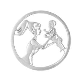 Zilveren Moeder met Kind Cover Munt van MY iMenso 33-0946