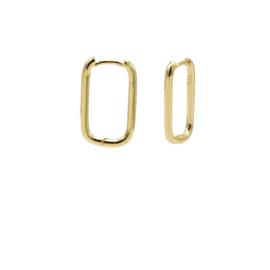 Goudkleurige Ovalen Oorringen 20MM | Karma Jewelry