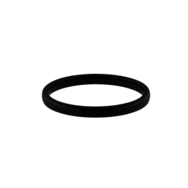 Zwarte Ronde Keramiek Ring van MY iMenso