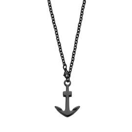 Zwarte Anker Ketting Hanger van Edelstaal van Frank 1967 60cm