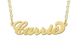 Names4ever Vergulde Carrie Naamketting