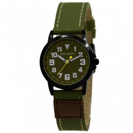 Cool Watch CW.246 Jongens Horloge Canvas Jort Green