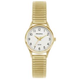 Prisma Goudkleurig Flex Dames Horloge met Schakelband