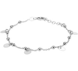 Zilveren armband bolletjes en rondjes 1,4 mm 17 + 2 cm