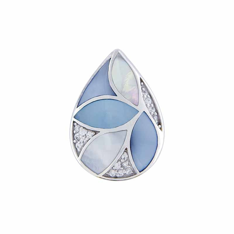 Blue Leafs Shell Mosaic Goccia Insignia van MY iMenso