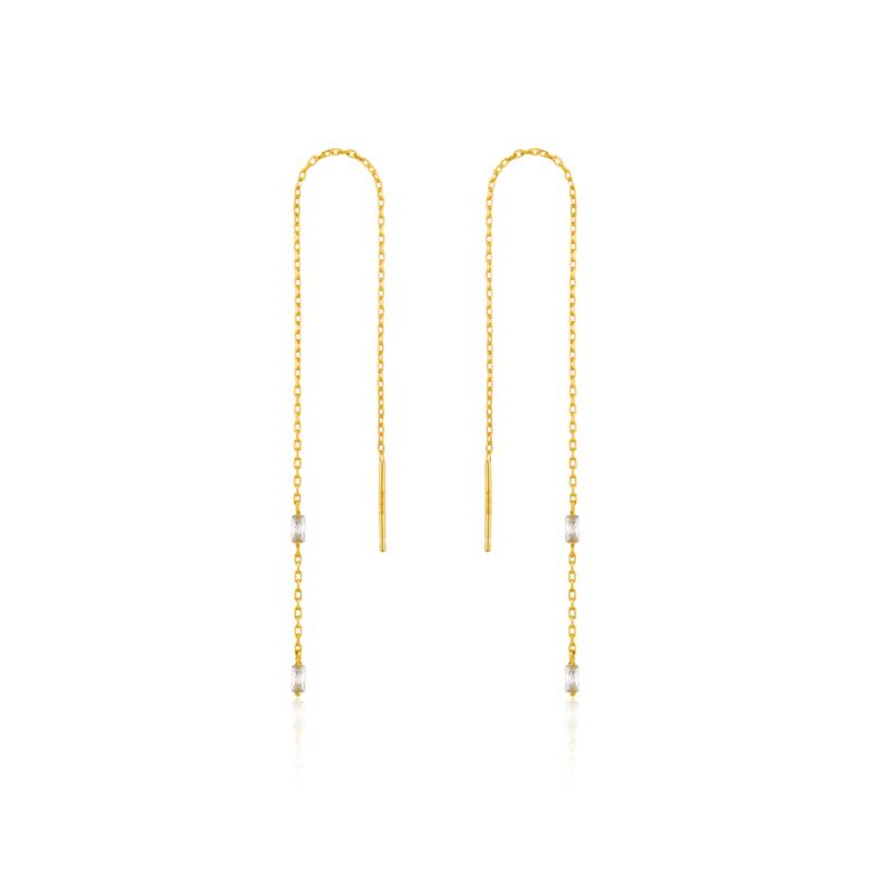Goudkleurige Glow Threader Earrings van Ania Haie