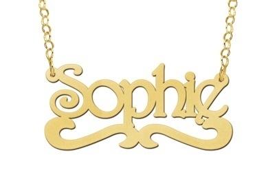 Names4ever Sophie Stijl Gouden Naamketting