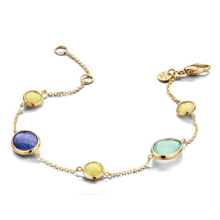 Excellent Jewelry Geelgouden Armband met Edelstenen