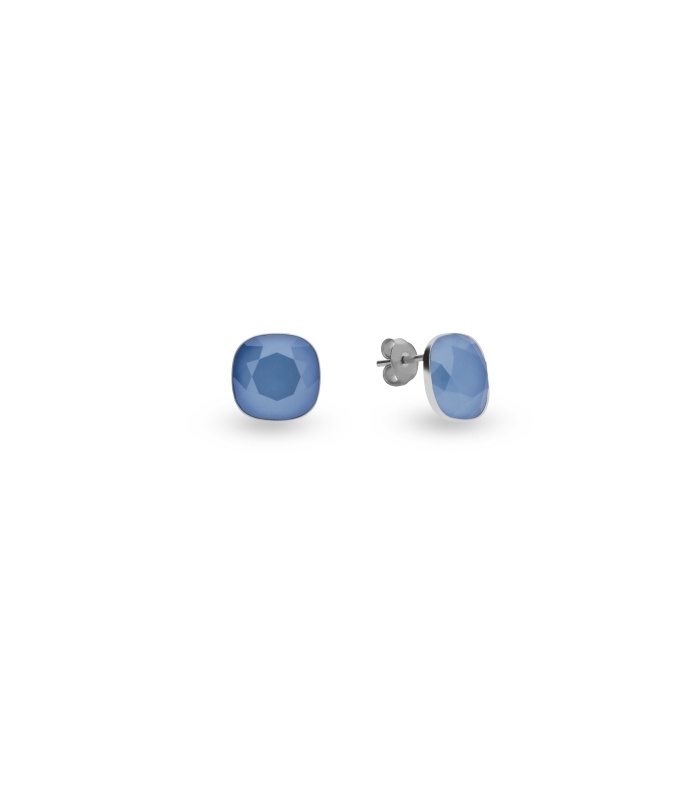 Oorbellen van Spark Jewelry met Summer Blue Glaskristal