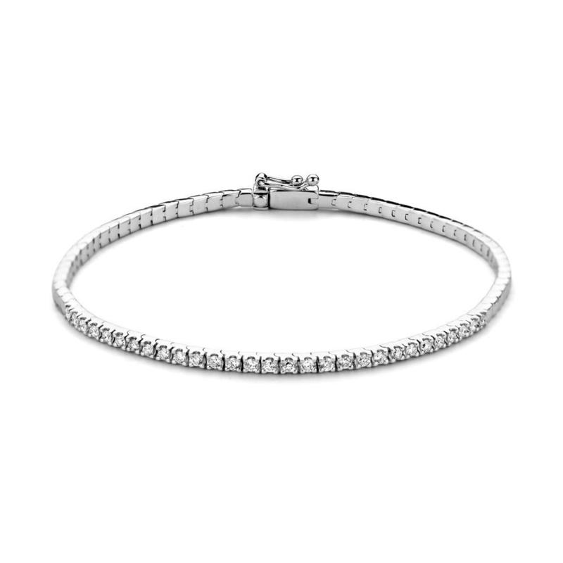 Excellent Jewelry Tennisarmband van Witgoud met 0,58 crt. Briljanten