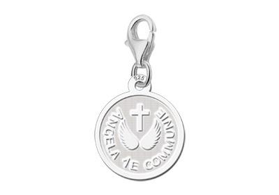 Names4ever Communie Bedel met Kruis en Engelvleugels