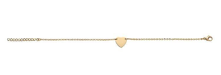 Goudkleurige Armband met Hart Hanger van M&M