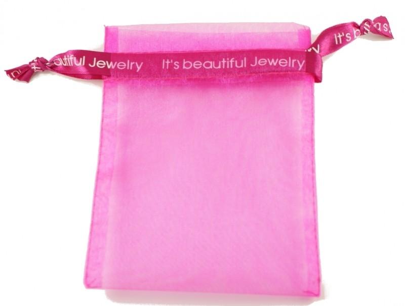 Organza zakje roze - It's Beautiful Jewelry