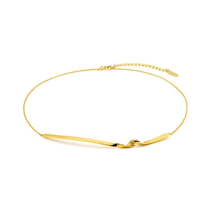 Goudkleurige Twist Necklace van Ania Haie