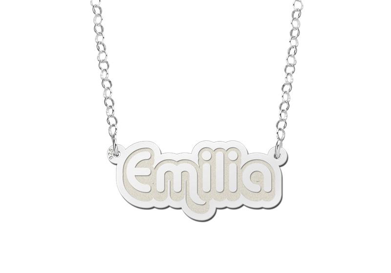 Zilveren Emilia Naamketting   Names4ever