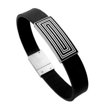 Witte Rechthoeken Bracelet van C MY STEEL
