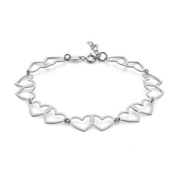 Super Stylish Zilveren Armband van Hartjes